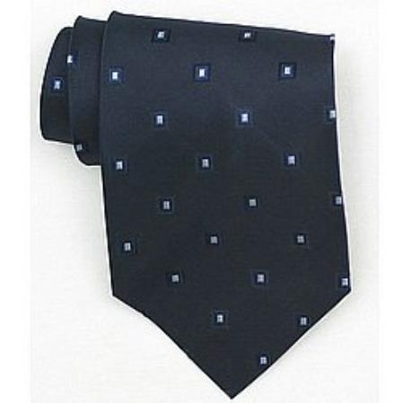 SKU#SW392A Silk Bavy/Lt.blue Woven Necktie $39