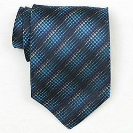 SKU#SW391A Silk Blue/turquoise ~ Light Blue Stage Party Woven Necktie $39