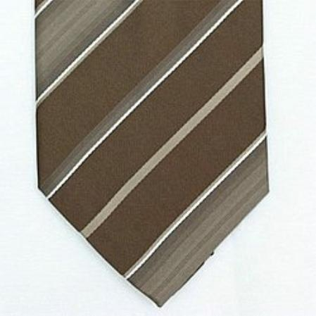 SKU#SW434A Silk Brown/Beige/White Woven Necktie  $39