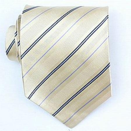 SKU#SW379A Silk Yellow/Navy/Lt.blue Woven Necktie $39