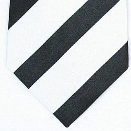SKU#SW447A  Silk Black/White Woven Necktie $39