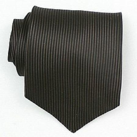 SKU#SW403A  Silk Brown/Black Woven Necktie $39