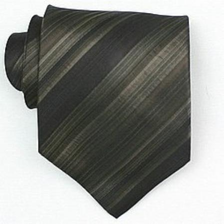 SKU# SW401A  Silk Brown/Black/Tan Woven Necktie