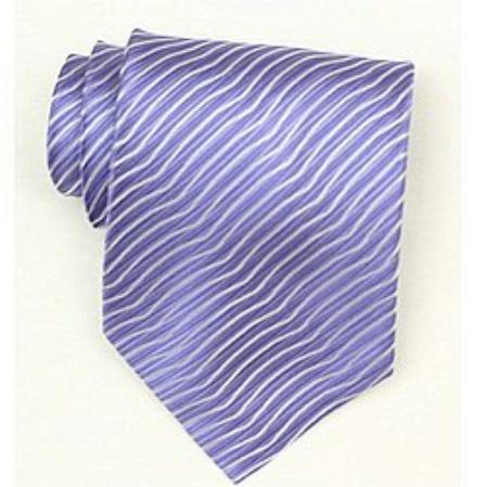 SKU#Sw460A  Silk Lavender Woven necktie $39