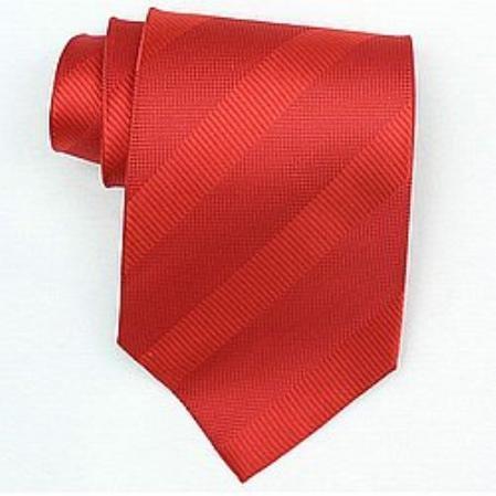 SKU#SW449A  Silk Red Woven Necktie $39