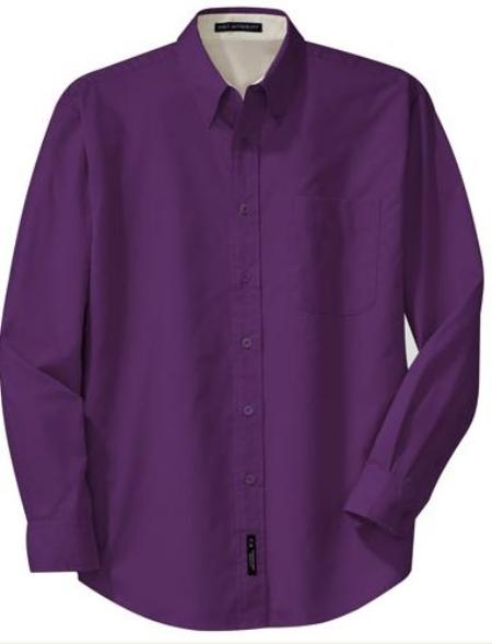 Mds3001U A great shade or dark purple dress shirt, for menor women $29