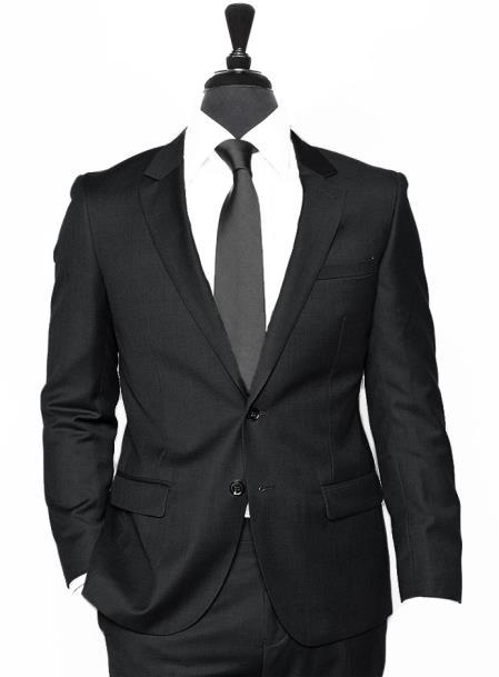 Alberto Nardoni Black Linen Suit Summer Suit 2 Buttons Suit