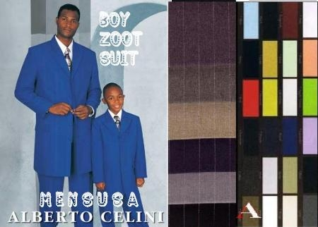 SKU# B27 Alberto Cellini Matching Father & Son Fashion Zoot Suit Available in all colors $99