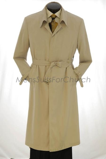 EMIL_CT05 All Weather Mens Trench Coat Khaki $155