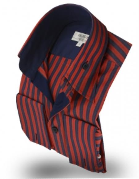 Collar Shirt Rumba Red/Navy