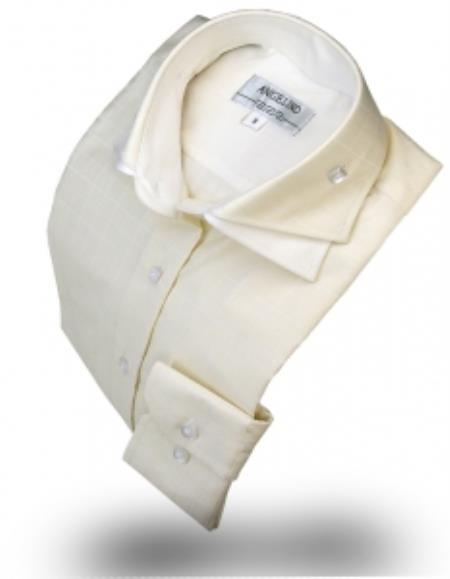 Double Collar Shirt Ivory