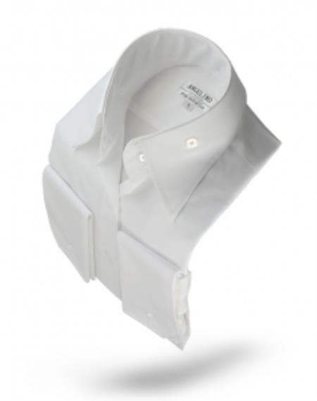 Shirt-High Collar White
