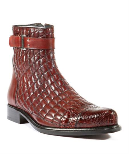 Mens Belvedere Shoes Libero Antique Wine Boots