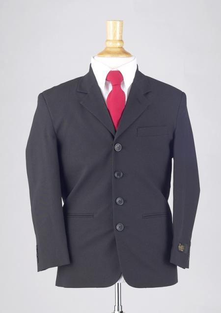 SKU# RTZ109 BOYS SB BLACK DRESS SUIT $79