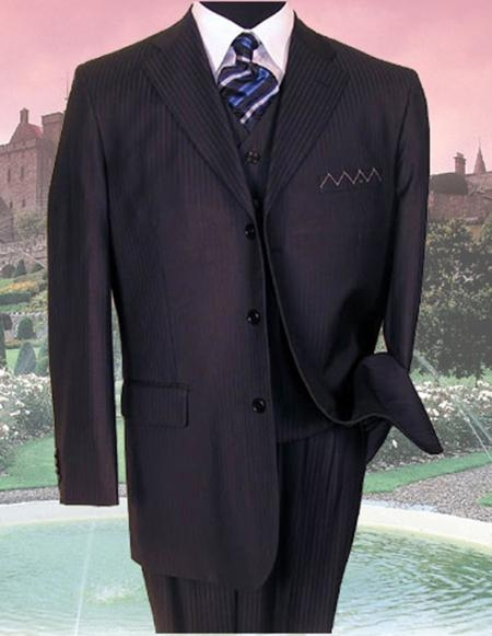 SKU: SKU36430 SM-08 NAVY PINSTRIPE three piece suit  $149