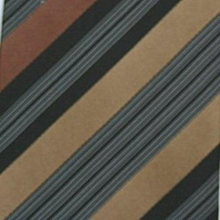 SKU#SW431B  Silk Brown/Black/Tan/White Woven Necktie