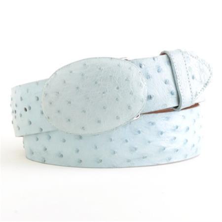 Blue Ostrich Belt