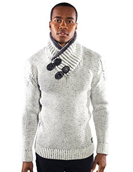 Buy CH1931 Mens barabas dove gold leaf bone Animal Fur sweater