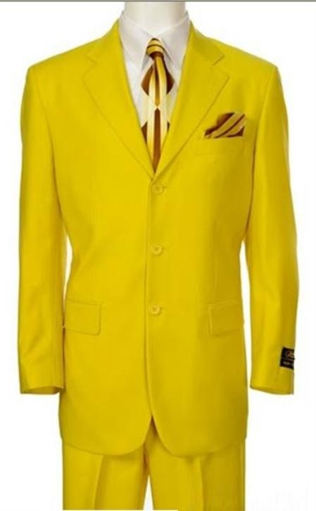 SKU# TNP717 Beautiful Mens Bright Yellow Fashion Dress With Nice Cut Smooth Soft Fabric $595