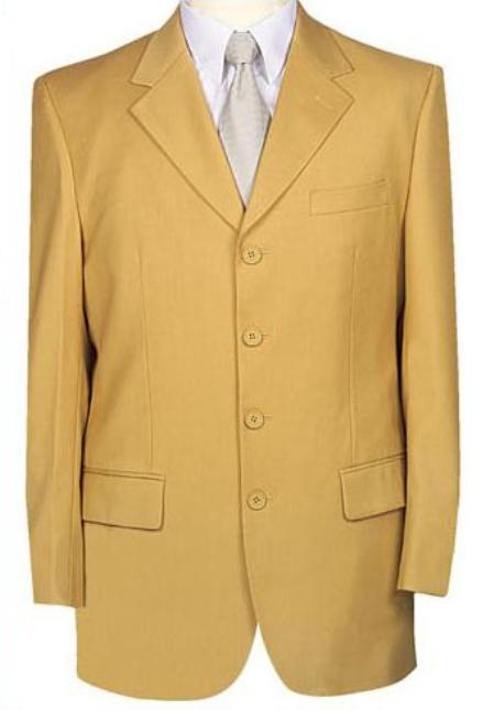 SKU# GT4 Beautiful Mens Gold~Bronz Fashion Dress With Nice Cut Smooth Soft Fabric $585