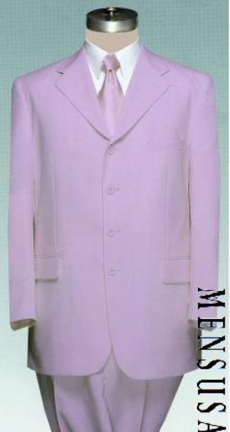 SKU#PLU70 Beautiful Mens Lavender Dress With Pastel Smooth Soft Fabric (Available in 3 Button Style Jacket + Pants)