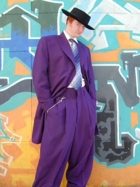 SKU# MUA77 Beautiful Mens Purple Longer Fashion Dress With Nice Cut Smooth Fabric $139