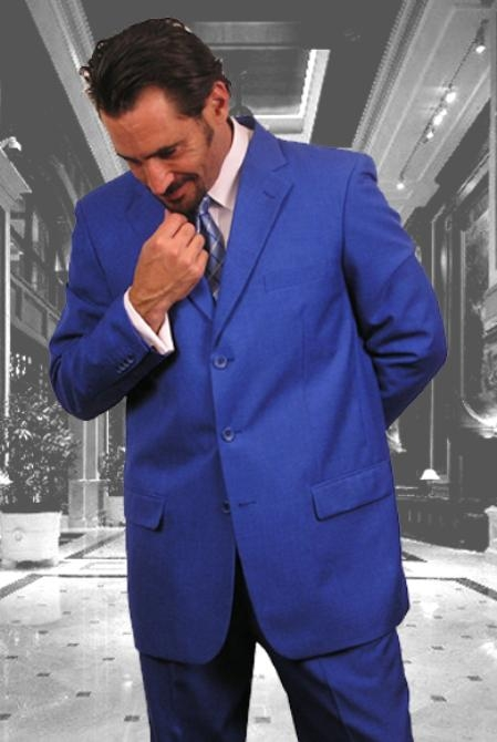 SKU#C74 Beautiful Mens Royal Blue With Nice Cut Smooth Soft Fabric $109