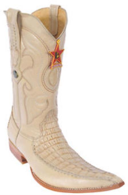 Buy KA 9987 caiman ~ alligator Tail Croc Oryx Beiges Los Altos Men's Cowboy Boots Western Riding