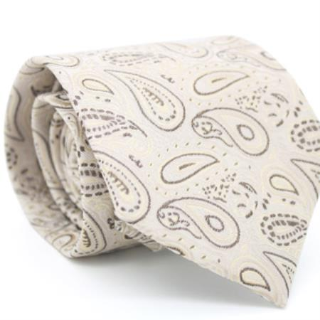 Beige Classic Paisley Necktie