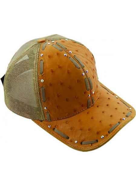 fbf366b2201624 Genuine Baseball Cap Ostrich World Best Alligator ~ Gator Skin Beige Exotic  Skin CACHUCHA DE COCODRILO