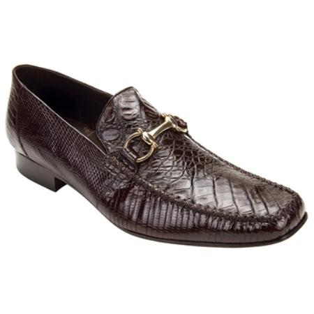 Buy NK8345 Belvedere Men's Brown Genuine Crocodile ~ Alligator & Lizard Slip ~ Loafer style