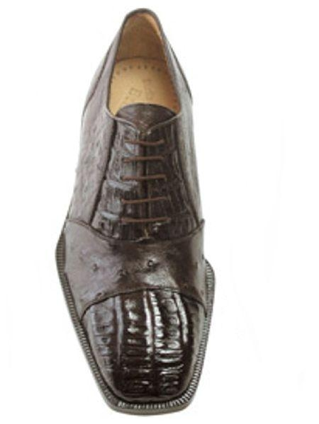 Authentic Genuine Skin Italian Onesto Dark Brown