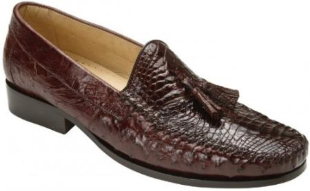 """Bari"" Brown Genuine Alligator"