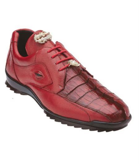 Mens Authentic Genuine Skin Italian Tennis Dress Sneaker Shoes Vasco Hornback & Calfskin