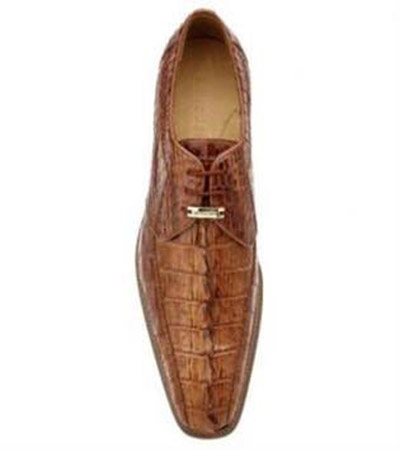 Buy SS-741 Belvedere Colombo Hornback Crocodile Shoes Camel
