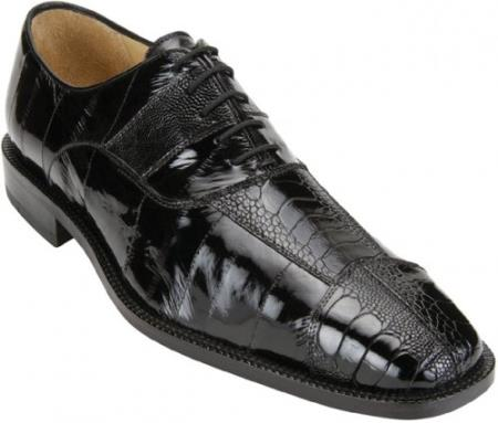 """Mare"" Black Genuine Eel"