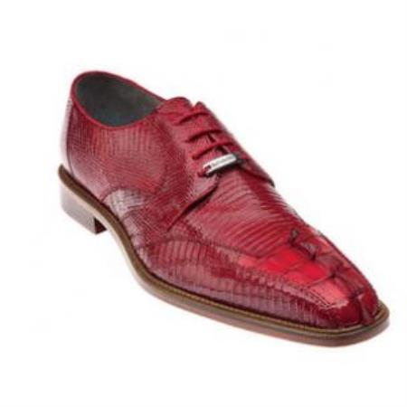 Buy SS-577 Belvedere Topo Hornback & Lizard Dress Shoes Red