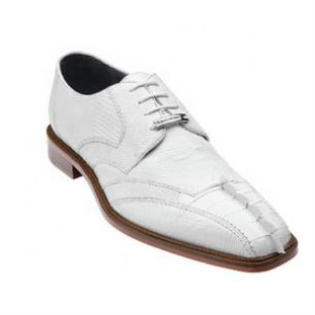 Buy SS-659 Belvedere Topo Hornback & Lizard Shoes White