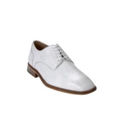 Olivo Lizard Shoes White