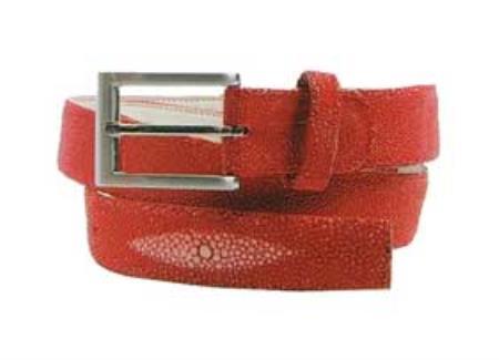 Genuine Stingray Belt Red