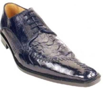 SKU#KA234 Belvedere Antico Genuine Crocodile Flank/Ostrich Leg Shoes $369