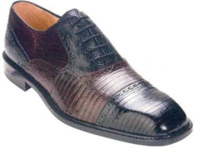 SKU#KJ932 Belvedere Billo All-Over Genuine Lizard Shoes $219