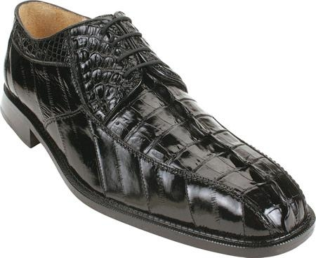 SKU#NE235 Belvedere Bruno - Black Crocodile/Eel