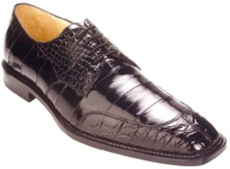 SKU#SD891 Belvedere Cane Genuine Crocodile Belly/Eel Shoes $289