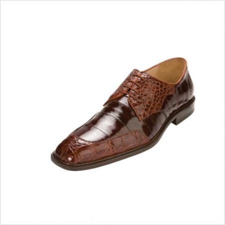 SKU#UK7777 Belvedere Cane Oxford in Brandy / Brown $322