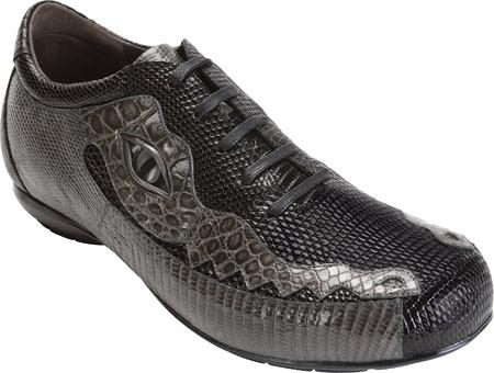 SKU#GD245  Belvedere Corona - Black/Gray Lizard Sneakers $282