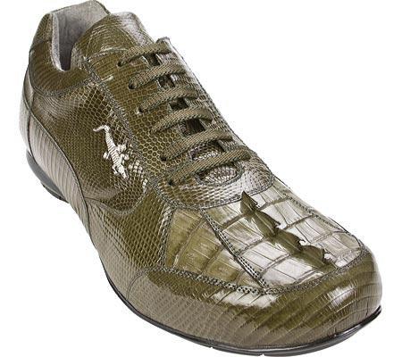 SKU#XU936  Belvedere Cresta - Olive Hornback/Lizard Sneaker $252