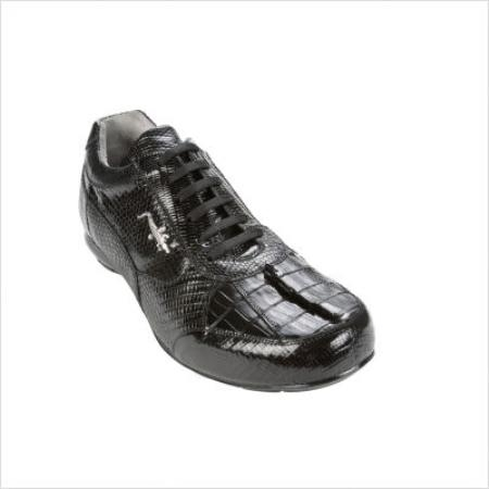SKU#GZ9800 Belvedere Cresta Sneaker in Black $206