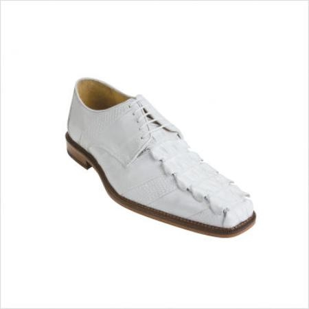 SKU#HB2990 Belvedere Fabrizio Oxford in White $231