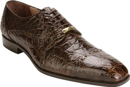 SKU#JI528 Belvedere Lupo - Brown Crocodile